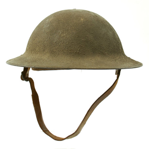 Original U.S. WWI M1917 Doughboy Helmet with Intact Size 6 7/8 Liner - Excellent Condition Original Items