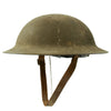 show larger image of product view 2 : Original U.S. WWI M1917 Doughboy Helmet with Intact Size 6 7/8 Liner - Excellent Condition Original Items