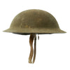 show larger image of product view 3 : Original U.S. WWI M1917 Doughboy Helmet with Intact Size 6 7/8 Liner - Excellent Condition Original Items