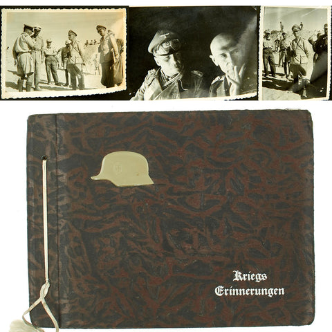 Original German WWII Afrika Korps Photo Album with Unpublished Erwin Rommel Pictures Original Items
