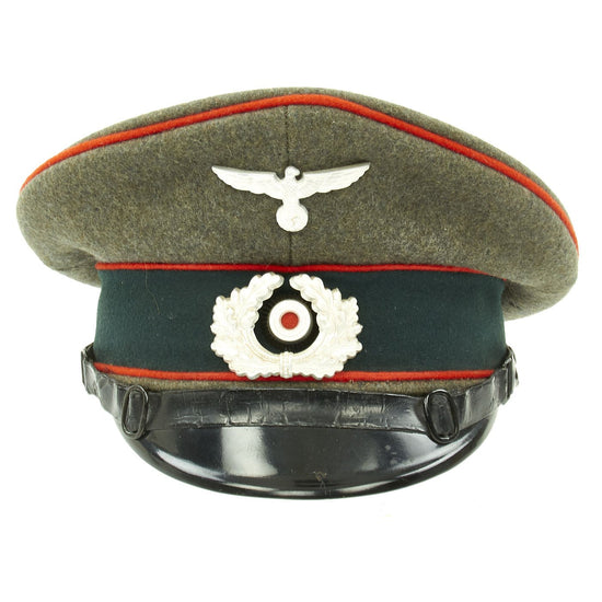 Original German WWII Army Heer Named Artillery EM & NCO Visor Cap by E. Breuninger - Excellent Condition