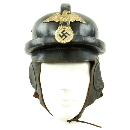 Original German WWII 1st Pattern NSKK Crash Helmet with RZM Label - size 55 Original Items