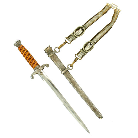 Original German WWII Army Heer Officer Dagger by Carl Eickhorn named to Knight's Cross Recipent A. Kiene