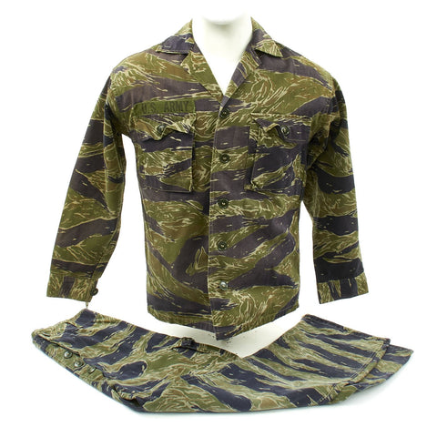 Original U.S. Vietnam War Special Forces Tiger Stripe Camouflage Fatigue Uniform Set Original Items