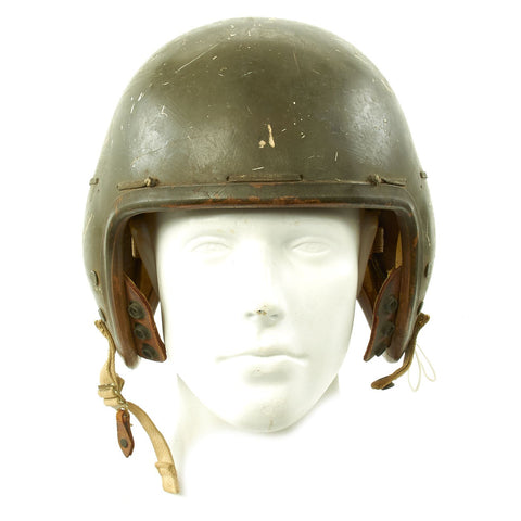 Original U.S. Korean War Era P-1B Flight Helmet with Named VF 103 Carry Bag - Dated 1953 Original Items