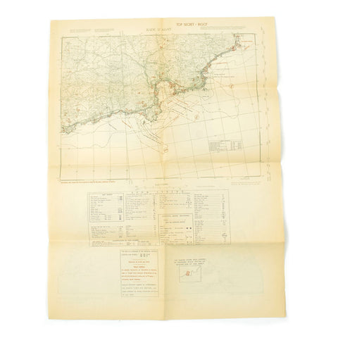 Original Rare Allied WWII Invasion Map of Agay Harbor in Southern France for Operation Dragoon - Rade D'Agay Original Items