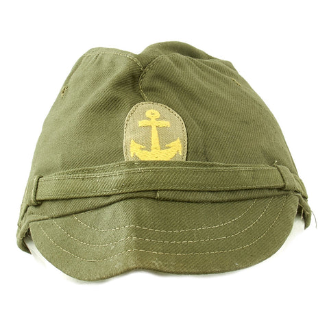 Original WWII Japanese Naval Landing Forces Officer Cotton Forage Cap - SNLF Original Items