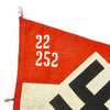 "show larger image of product view 3 : Original German WWII Hitler Youth Unit Marked 38"" x 21"" Pennant Flag - Hitlerjugend Original Items"