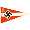 "show larger image of product view 1 : Original German WWII Hitler Youth Unit Marked 38"" x 21"" Pennant Flag - Hitlerjugend Original Items"
