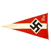 "show larger image of product view 2 : Original German WWII Hitler Youth Unit Marked 38"" x 21"" Pennant Flag - Hitlerjugend Original Items"