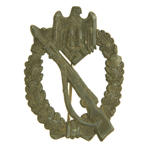 Original German WWII Silver Grade Infantry Assault Badge - Hollow Back Style Original Items