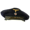 show larger image of product view 1 : Original German WWII Naval Kriegsmarine Donald Duck Cap Tellermütze - size 56 Original Items