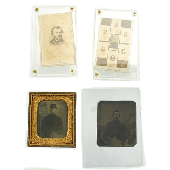 Original U.S. Civil War Photo Collection: General Grant, Two Federal 1/6 Plate Tintypes, & J.W. Booth Original Items