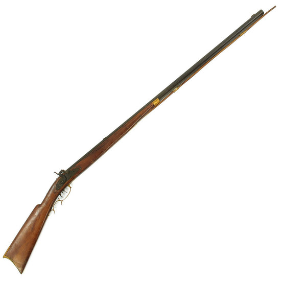 Original U.S. Kentucky Percussion Rifle with Set Trigger by Solomon Ward of Jamestown N.C. circa 1870