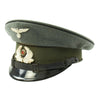 show larger image of product view 2 : Original German WWII Named DRB Bahnschutzpolizei Railway Police 56cm Visor Cap by Clemens Wagner Original Items