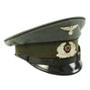 show larger image of product view 8 : Original German WWII Named DRB Bahnschutzpolizei Railway Police 56cm Visor Cap by Clemens Wagner Original Items