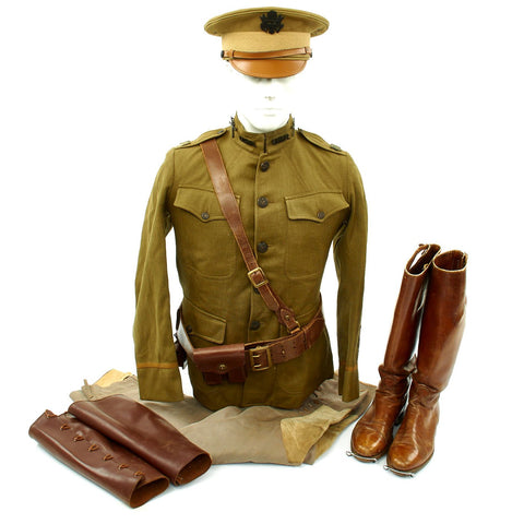 Original U.S. WWI 301st Infantry Regiment 94th Division Named Officer Uniform Grouping Original Items