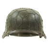 show larger image of product view 4 : Original German WWII Named Army Heer M40 Chicken Wire Steel Helmet with Size 58 Liner - ET66 Original Items