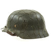 show larger image of product view 2 : Original German WWII Named Army Heer M40 Chicken Wire Steel Helmet with Size 58 Liner - ET66 Original Items