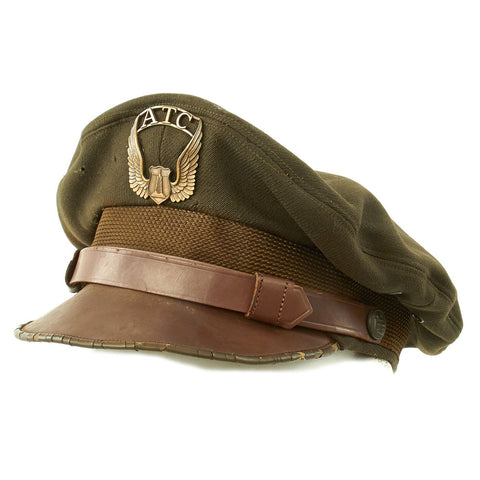 Original U.S. WWII Air Transport Command ATC Crush Peaked Visor Cap Original Items