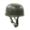 show larger image of product view 4 : Original German WWII M38 Luftwaffe Fallschirmjäger Paratrooper Helmet with Replica Chinstrap - ET66 Original Items