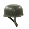 show larger image of product view 1 : Original German WWII M38 Luftwaffe Fallschirmjäger Paratrooper Helmet with Replica Chinstrap - ET66 Original Items