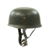 show larger image of product view 2 : Original German WWII M38 Luftwaffe Fallschirmjäger Paratrooper Helmet with Replica Chinstrap - ET66 Original Items