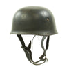 show larger image of product view 5 : Original German WWII M38 Luftwaffe Fallschirmjäger Paratrooper Helmet with Replica Chinstrap - ET66 Original Items