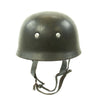 show larger image of product view 6 : Original German WWII M38 Luftwaffe Fallschirmjäger Paratrooper Helmet with Replica Chinstrap - ET66 Original Items