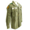 show larger image of product view 6 : Original U.S. 1960s Major General David Warren Gray HBT Shirt Original Items