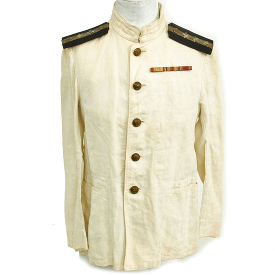 Original Imperial Japanese Navy WWII Lieutenant Summer Tunic Original Items