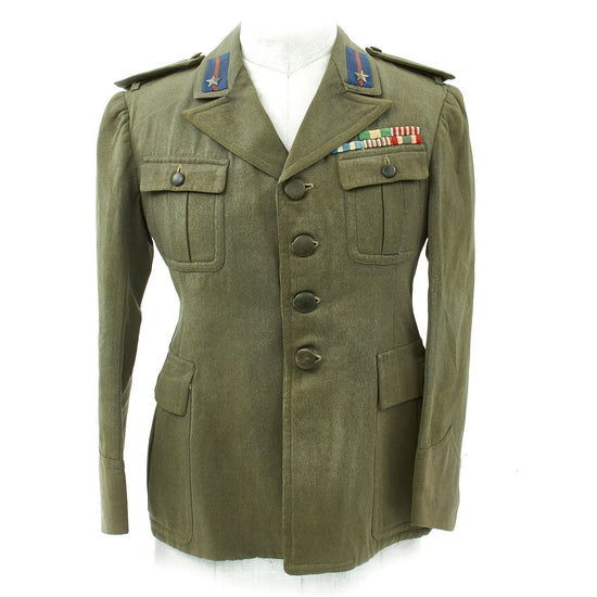 Original WWII Italian Army Infantry Warrant Officer Uniform Jacket Original Items