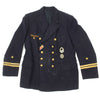 show larger image of product view 4 : Original German WWII Kriegsmarine Oberleutnant zur See Reefer Jacket with Medals Original Items
