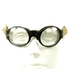 show larger image of product view 3 : Original German Luftwaffe Fighter Pilot Splinter Goggles Ultrasin Glasses Type D with Tin Original Items