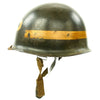 show larger image of product view 4 : Original U.S. WWII Fifth Army MP Helmet - Schlueter Rear Seam with Westinghouse Liner Original Items