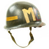 show larger image of product view 3 : Original U.S. WWII Fifth Army MP Helmet - Schlueter Rear Seam with Westinghouse Liner Original Items