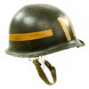 show larger image of product view 5 : Original U.S. WWII Fifth Army MP Helmet - Schlueter Rear Seam with Westinghouse Liner Original Items