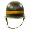 show larger image of product view 6 : Original U.S. WWII Fifth Army MP Helmet - Schlueter Rear Seam with Westinghouse Liner Original Items