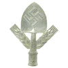 show larger image of product view 1 : Original German WWII RAD National Labor Service Aluminum Flag Pole Finial by Gebrüder Cosack Original Items