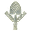 show larger image of product view 2 : Original German WWII RAD National Labor Service Aluminum Flag Pole Finial by Gebrüder Cosack Original Items