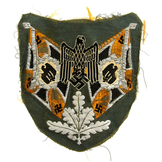 Original German WWII Heer Army Cavalry Standard Bearer Sleeve Patch - Uniform Cutoff Original Items