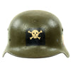 show larger image of product view 3 : Original German WWII USGI Decorated M35 Steel Helmet Shell - EF64
