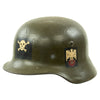 show larger image of product view 2 : Original German WWII USGI Decorated M35 Steel Helmet Shell - EF64
