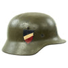 show larger image of product view 8 : Original German WWII USGI Decorated M35 Steel Helmet Shell - EF64