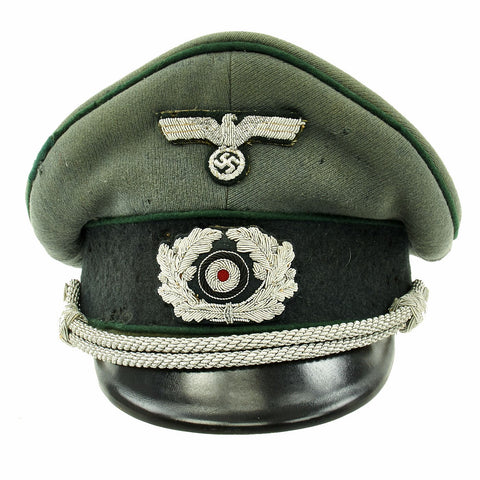 Original German WWII Named Heer Army Administration Officer Visor Crush Cap Original Items