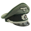 show larger image of product view 6 : Original German WWII Named Heer Army Administration Officer Visor Crush Cap Original Items
