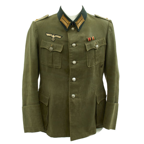 Original German WWII Army Officer Oberleutnant Summer Tunic Original Items