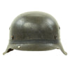 show larger image of product view 3 : Original German WWII M42 Army Heer Helmet with Foliage Rubber Band and 57cm Liner - hkp64 Original Items
