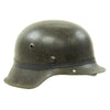show larger image of product view 4 : Original German WWII M42 Army Heer Helmet with Foliage Rubber Band and 57cm Liner - hkp64 Original Items