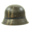 show larger image of product view 5 : Original German WWII M42 Army Heer Helmet with Foliage Rubber Band and 57cm Liner - hkp64 Original Items
